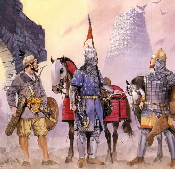 Turkic warrior in sacked city