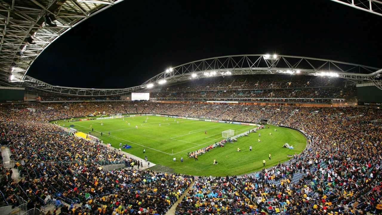 l'interno dello Stadium Australia