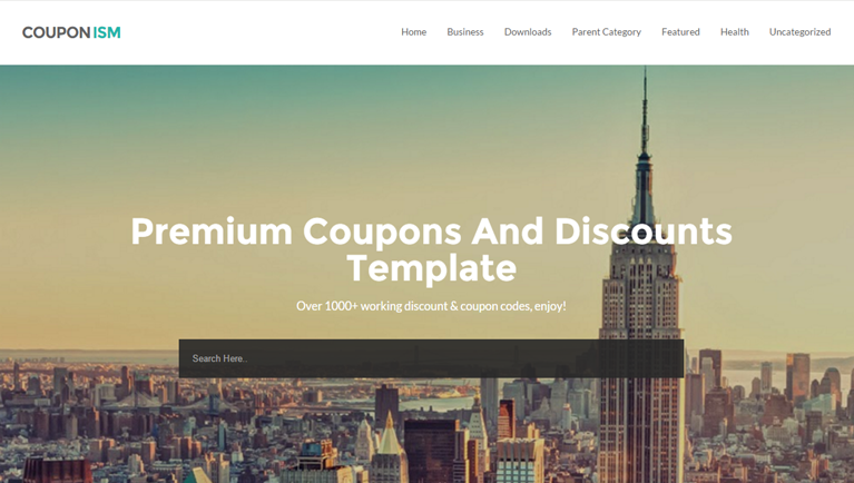 Couponism Free Blogger Template