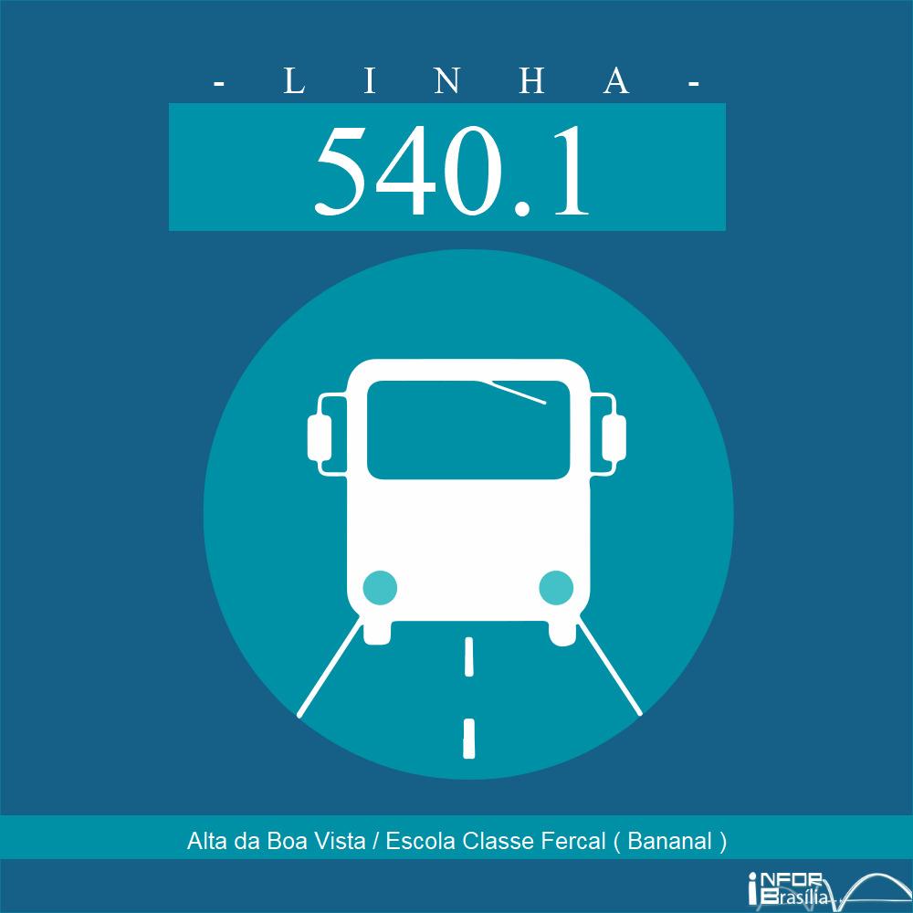 Horário de ônibus e itinerário 540.1 - Alta da Boa Vista / Escola Classe Fercal ( Bananal )