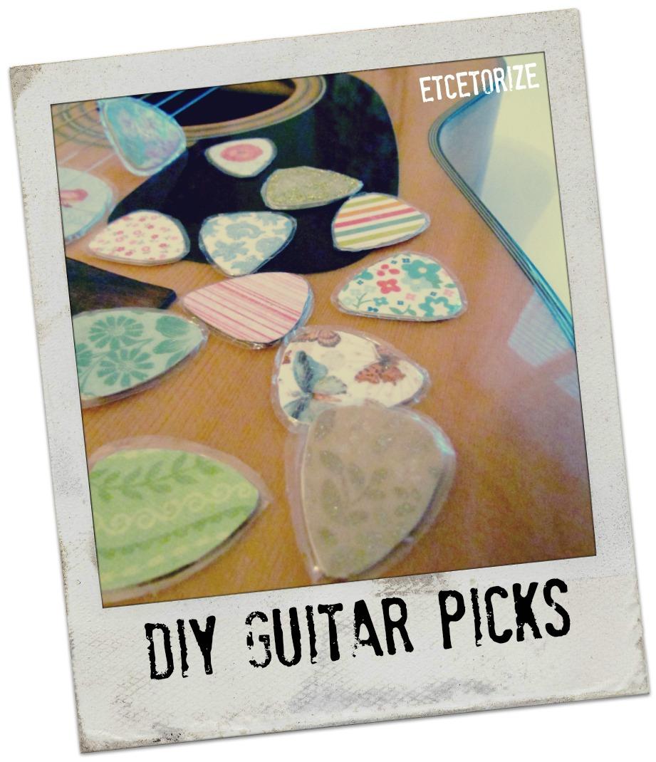 etcetorize diy guitar picks. Black Bedroom Furniture Sets. Home Design Ideas