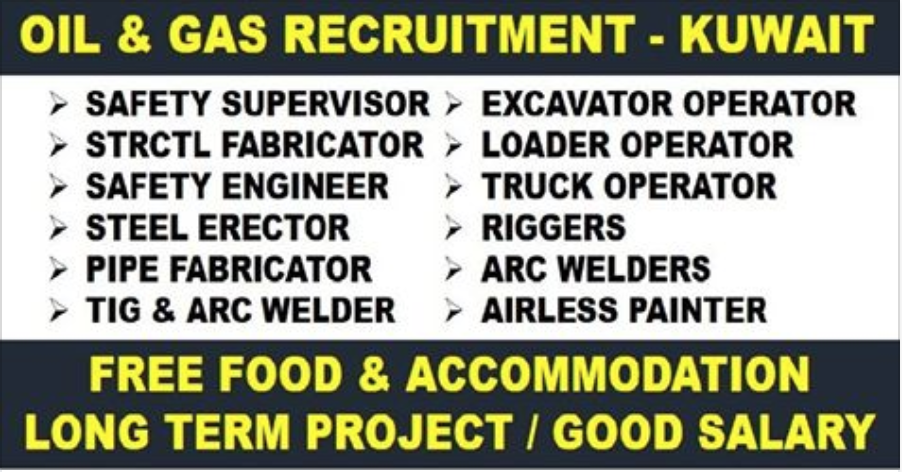 LONG TERM OIL & GAS CONSTRUCTION PROJECT IN KUWAIT | APPLY NOW | All