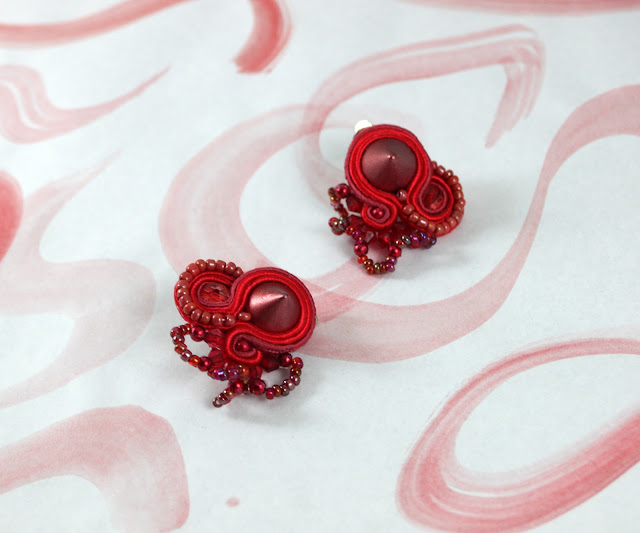 soutache earrings, soutache  jewelry