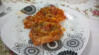 Foto do macarrão Ninho pronto para consumo no prato