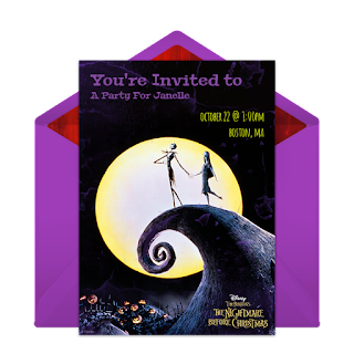 free nightmare before christmas invitation