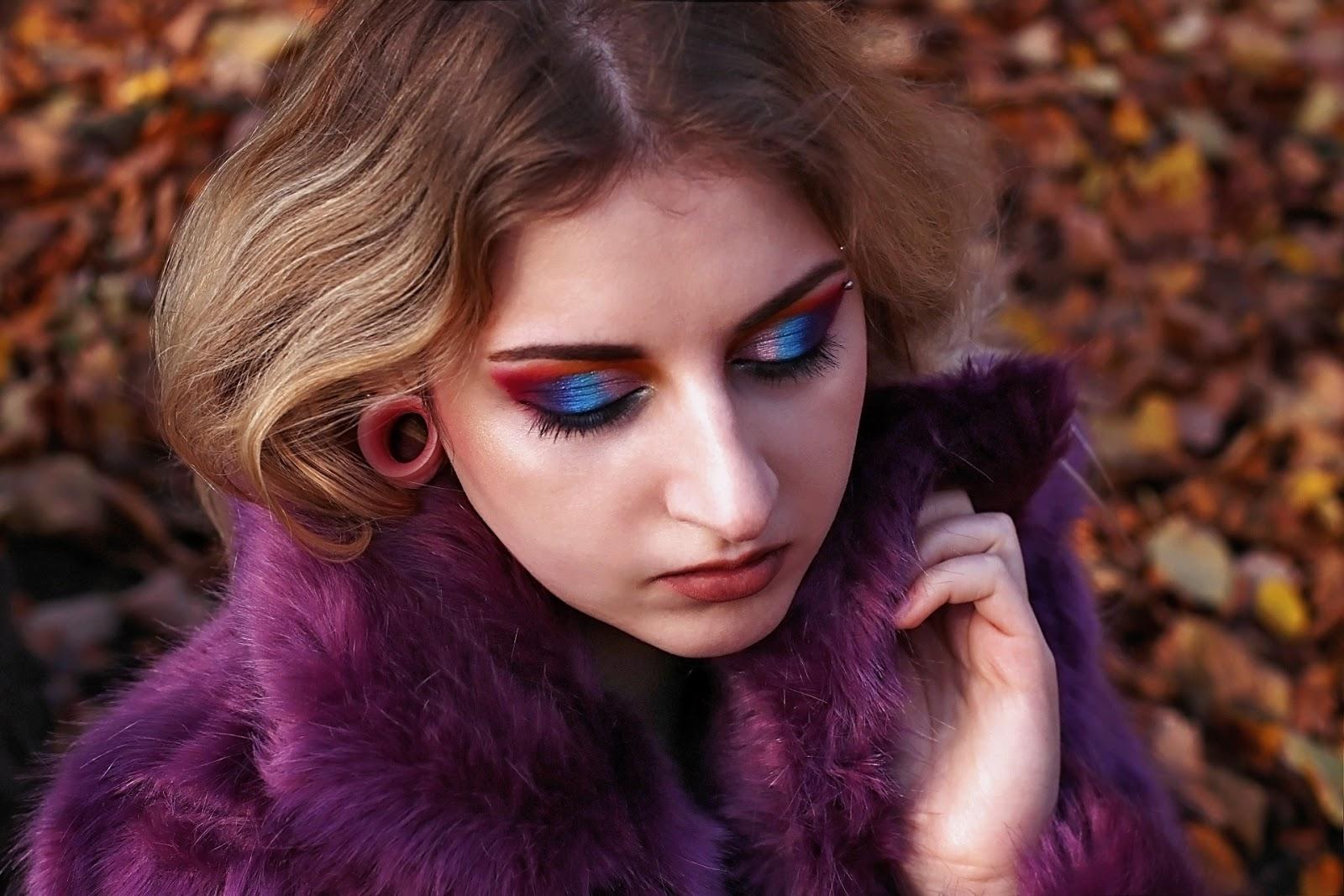 Futro na zimę 2018, jak nosić futro, z czym nosić futro, futro do 200zł, futra, bershka, topshop, mohito, hm, moschino, mohito, reserved, ubrania z sieciowek, futro stacjonarnie, futra online, eko futro, fioletowe futro, makeup, huda beauty, fenty beauty, smashbox, katvond