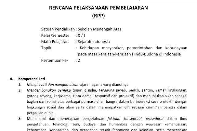 Download Silabus dan RPP SMA Kurikulum 2013 Revisi 2018 Semua Mapel Pdf