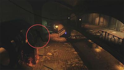 2階の踊り場柵の壊れているギリギリからロケットブーストを使って