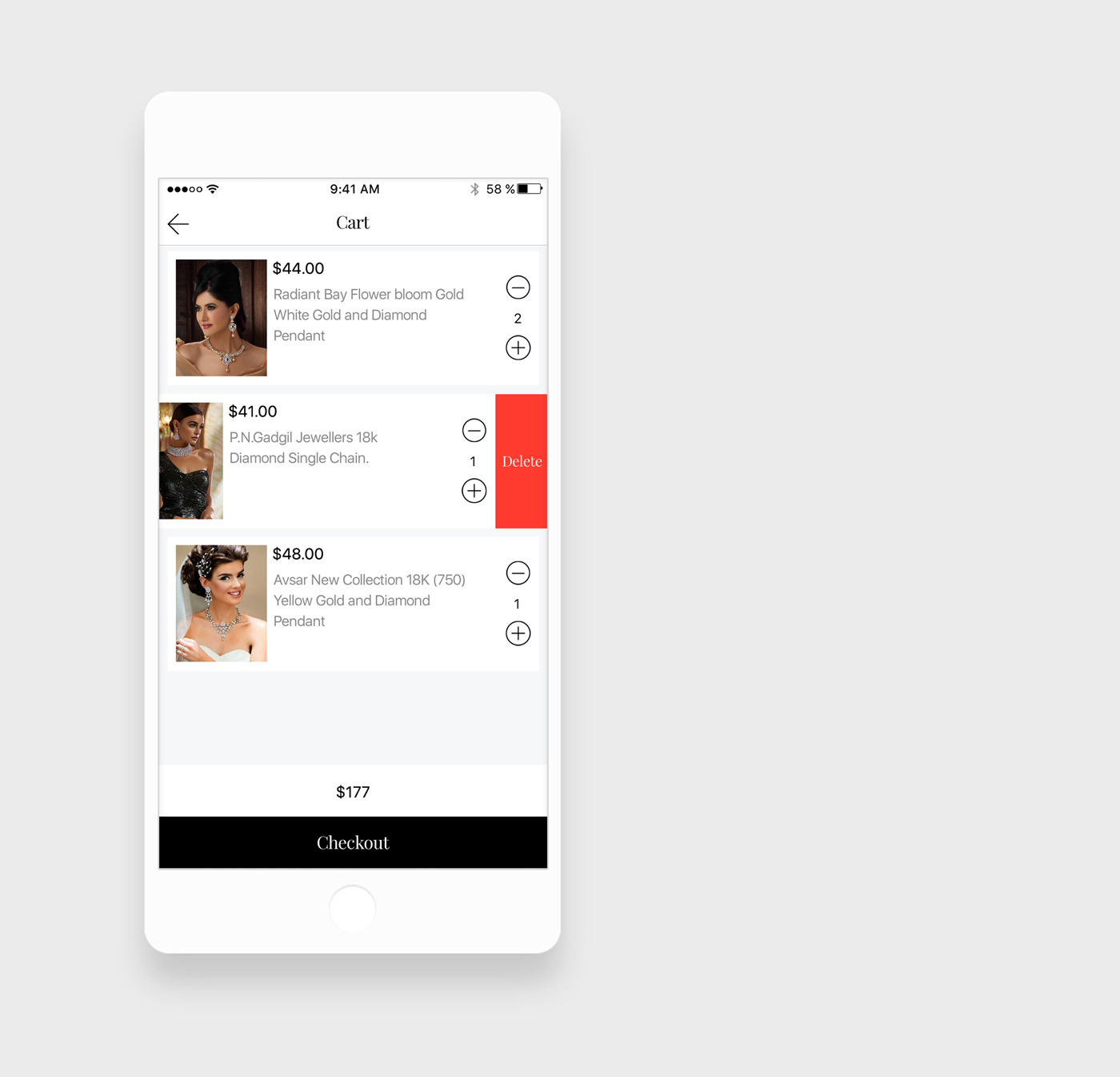 Jewellery%2BApp%2Bcart%2BUI%2BDesigns Jewellery App UI Designs download