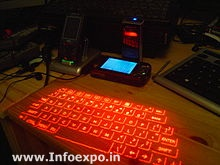 Infrared keyboard or Projection keyboard is the latest form of keyboard technology