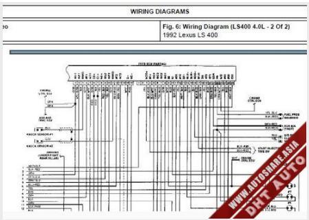 WIRING       DIAGRAM       LEXUS       LS400    1992   Toyota Workshop Manual