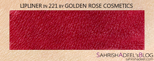 Lipliner by Golden Rose Cosmetics - Review & Swatch