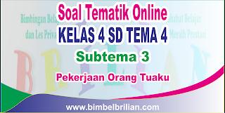 Soal Tematik Online Kelas 4 SD Tema 4 Subtema 3 Pekerjaan Orang Tuaku Langsung Ada Nilainya
