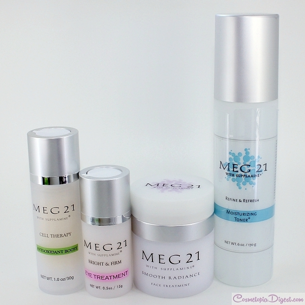 New face care routine with MEG 21 products