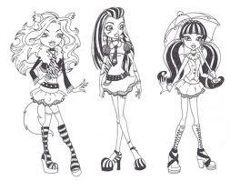 Monster High España Monster High Para Colorear