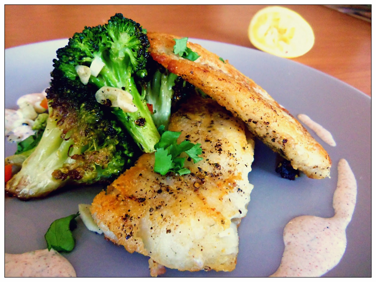 You've Got Meal!: Fried Fish with Blistered Broccoli and
