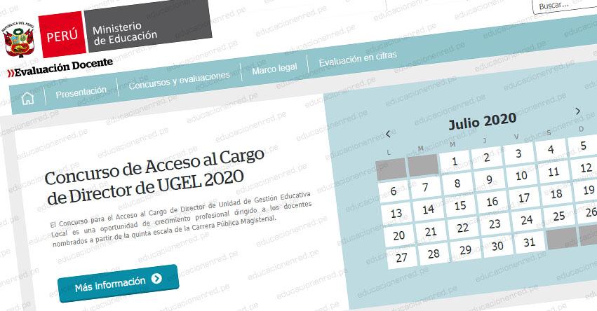 MINEDU convoca a Concurso Nacional de Acceso al Cargo de Director de UGEL 2020 (R. VM. N° 136-2020-MINEDU)