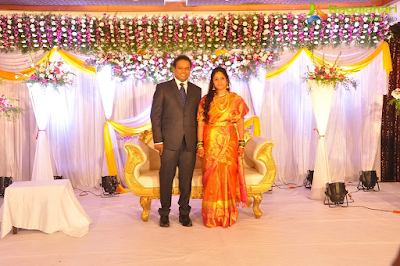 Comedian Harish and his wife wedding reception