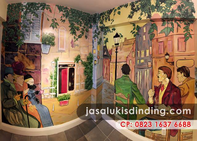 Mural café Bandung