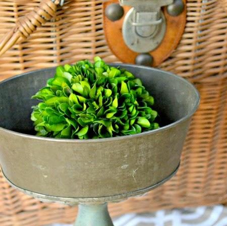 Antique Jello Tin Pedestal Dish Craft