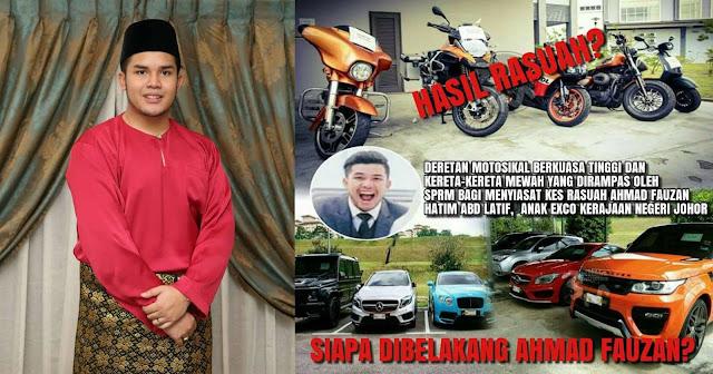 KINI VIRAL : Inilah Wajah Ahmad Fauzan Anak Exco Kerajaan Negeri Johor Yang Terlibat Rasuah !