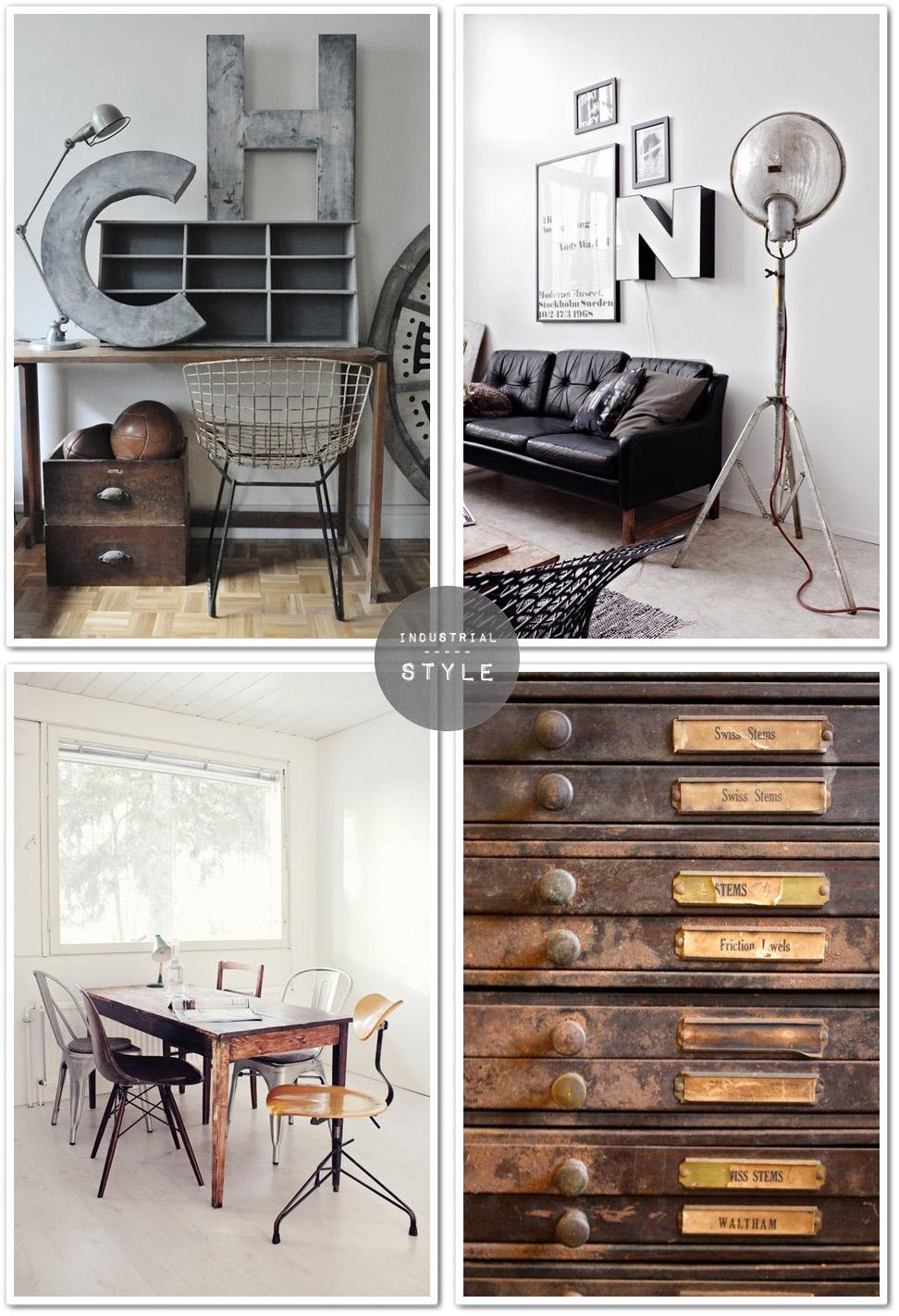 Orientarsi verso lo stile industriale shabby chic interiors for Arredamento oggettistica