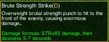 naruto castle defense 6.0 Brute Strength Strike detail