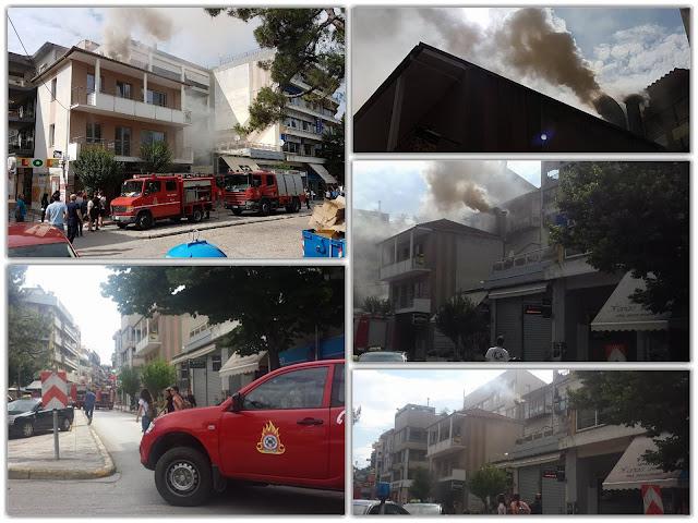 Γιάννενα: Φωτιά σε καπνοδόχο καταστήματος