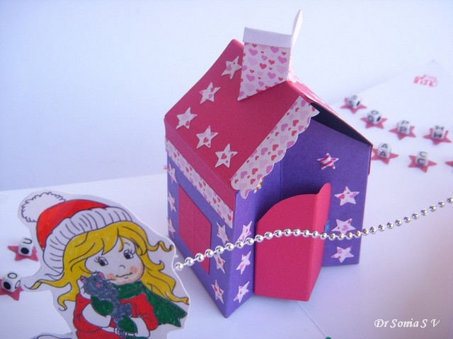 Cards crafts kids projects house pop up card tutorial for Pop up card craft