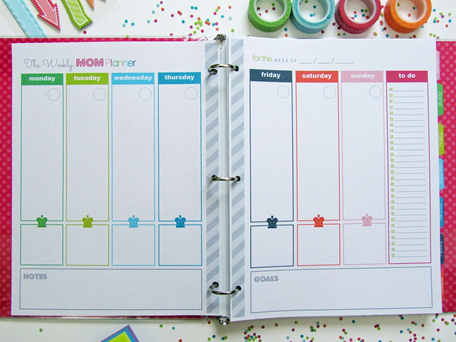 Calendar Home Planner : Clean life and home the mom planner printable