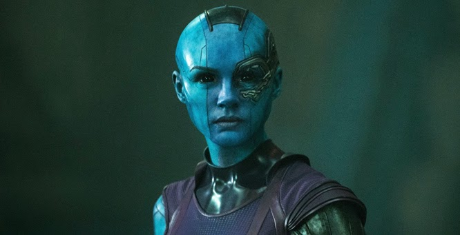 Guardians of the Galaxy pictures Nebula hair makeup