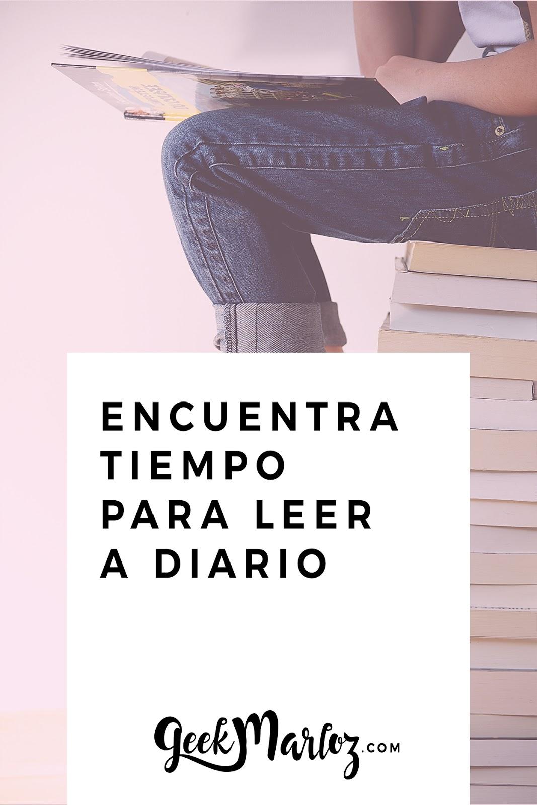 Encuentra tiempo para leer a diario
