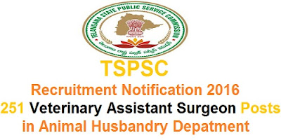 TSPSC Animal Husbandry Dept Recruitment 2016