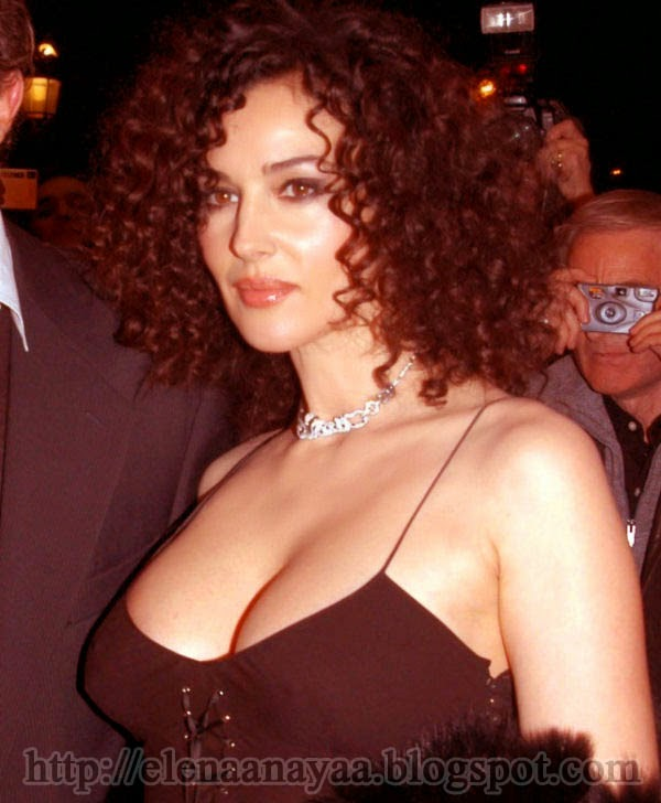Monica Bellucci Curly Hair Image