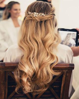 peinados de gala elegantes y fáciles paso a paso