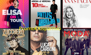 Logo Vinci gratis i biglietti Tour di Elisa,Zucchero, Venditti, Anastacia, Modà e tanti altri