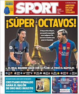portada Sport balón de oro 2016 Cristiano Ronaldo