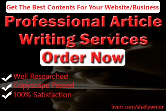 blog post, web copy, article writing, writing