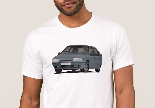 Gray cornering Citroën BX GTi t-shirt