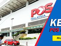 Jawatan Kosong di POS Malaysia - Kerani / Minima SPM / Gaji RM1,400++