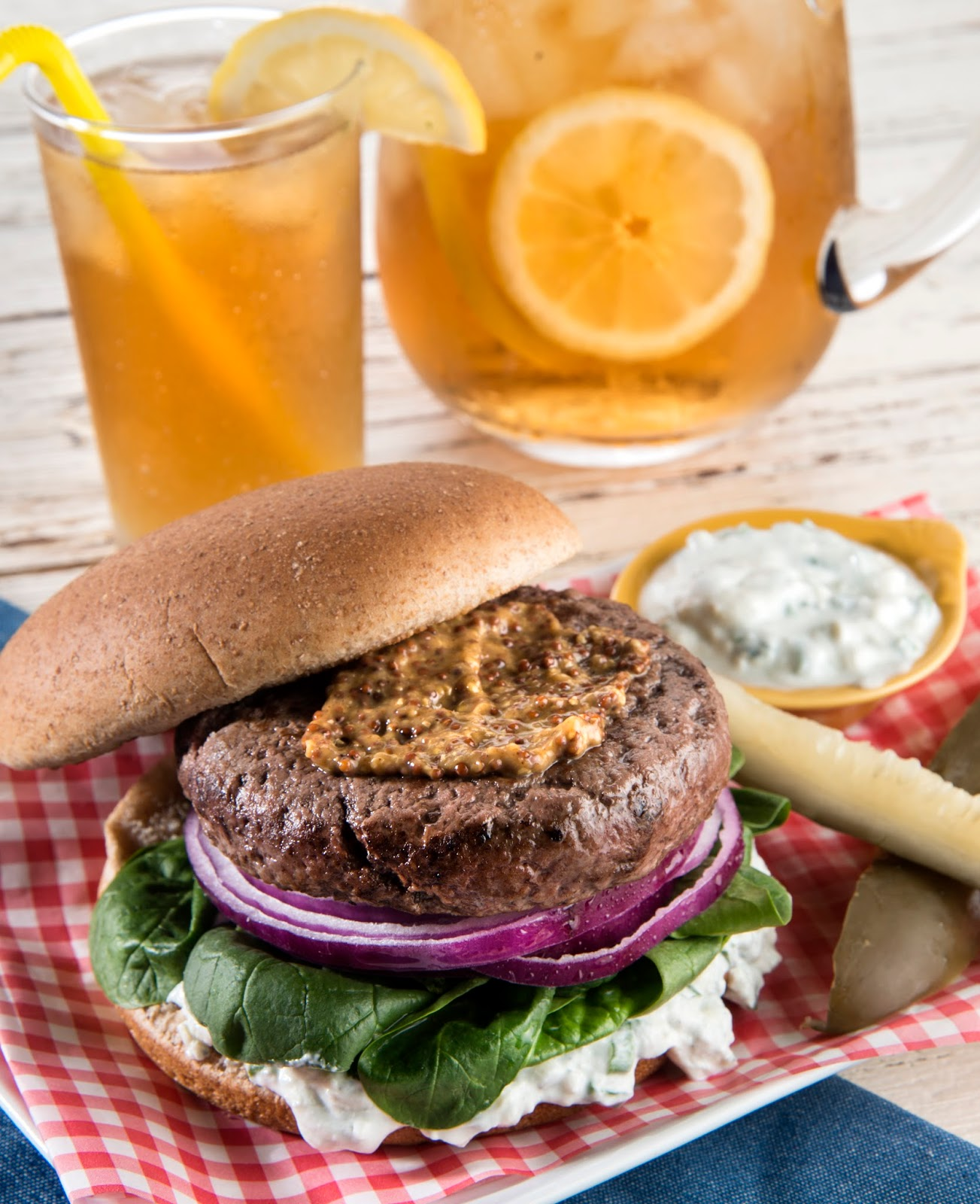 Blue Cheese Buffalo Burger, Audrey Johns