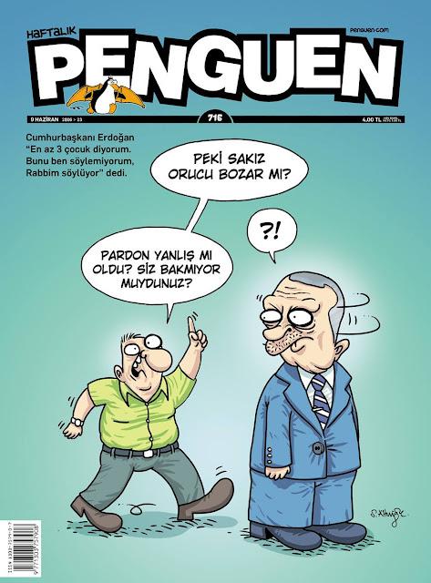 Penguen Dergisi - 9 Haziran 2016 Kapak Karikatürü