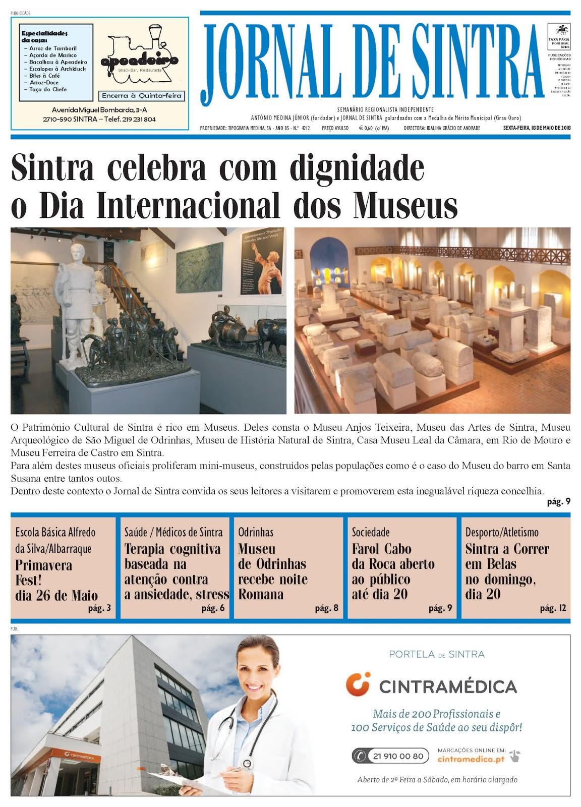 Capa da edição de 18-05-2018