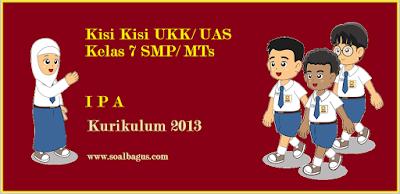 Download dan dapatkan kisi kisi penulisan soal ukk/ uas IPA SMP kelas VII semester 2 kurikulum ktsp 2017