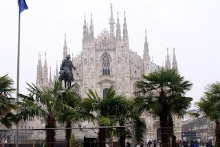 Palme a Milano in Piazza Duomo