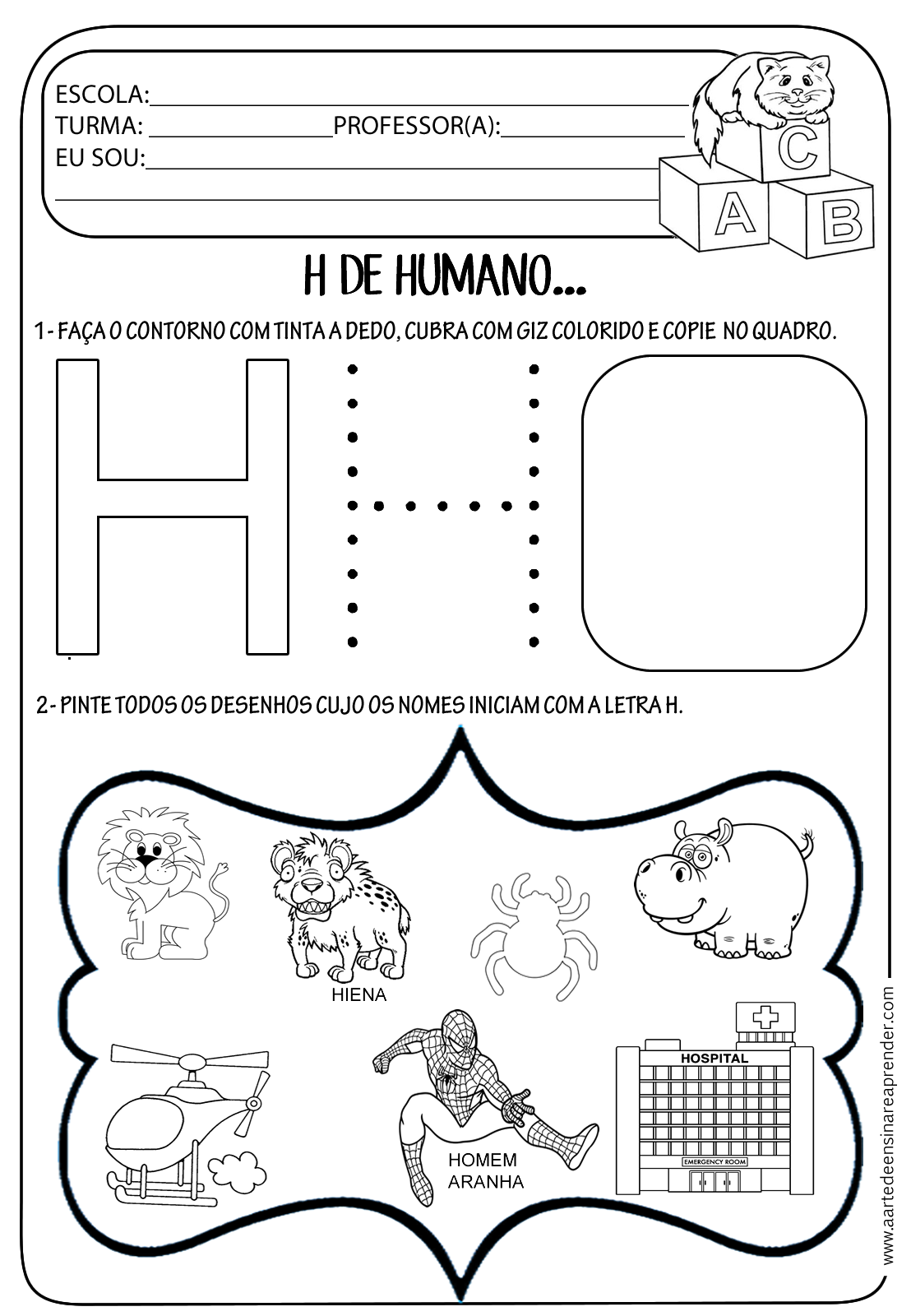 Atividade Pronta Letra H A Arte De Ensinar E Aprender