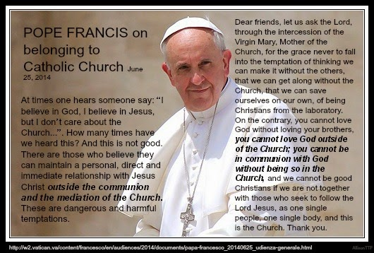 Catholic Quotes About Family: Pope Francis Speaks On Being Outside Of The Church