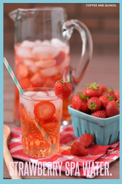 Strawberry spa water