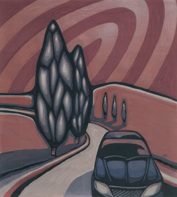 Highway by Alisa Perks Gouache painting