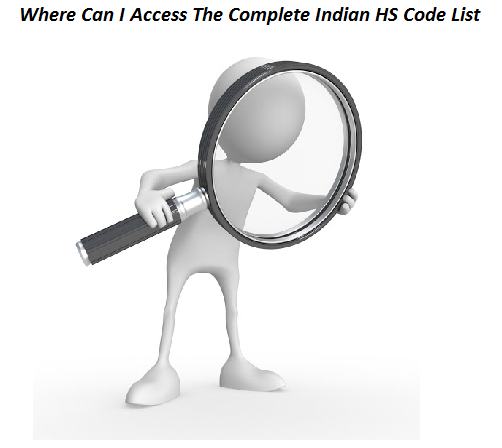 Where Can I Access The Complete Indian HS Code List